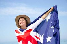 Wrap ourselves in the Australian flag like it's a cape. Just call me CAPTAIN STRAYA. | 27 Things Australians Do According To Ridiculous Stock Images