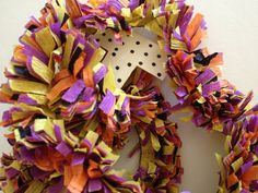 Paper Festooning Crepe Paper Yellow Purple by thegiftgardenshoppe, $3.00