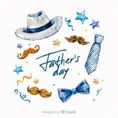 Fondo del día del padre en acuarela | Free Vector #Freepik #freevector #fondo #acuarela #tarjeta #amor Happy Fathers Day Greetings, Father's Day Greetings, Father And Daughter Love, Fathers Day Banner, Boxes And Bows, Father's Day Greeting Cards, Daddy Day, Birthday Cards For Friends, Father's Day Diy
