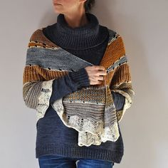 This top down semi-circle shawl begins with my favorite Westknits shortcut rows and yarn overs followed by two-color brioche ribbing, slipped stitches, stripes, and finally a beautiful chevron border. Choose 4 colors of yarn and enjoy the playful knitting journey!