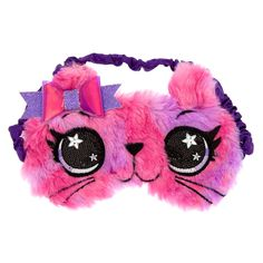 Star the Cat Sleeping Mask - Pink, Baby Girl Toys, Toys For Girls, Peppa Pig Birthday Outfit, Cute Sleep Mask, Chat Rose, Unicorn Fashion, Baby Doll Accessories, Unicorn Crafts, Cute Notebooks