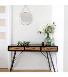 Warm home decor love tassels on lamps foyer tables - Consola estilo industrial ...