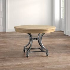 Ophelia & Co. Sinead Dining Table & Reviews | Wayfair Trestle Dining Tables, Pedestal Dining Table, Round Dining, Table And Chairs, Round Extendable Dining Table, Leaf Table, Wood Table, Wood Pedestal, Chair Bench