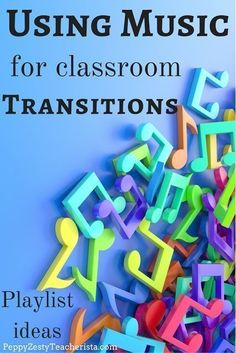 Are you an elementary education teacher looking for more classroom ideas? This classroom management tip will ease the stress of transitions in the classroom! Using music in the classroom is a fabulous classroom management tool! Check out these awesome lis