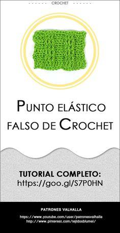 #Puntoelástico falso de #Crochet   #PatronesValhalla