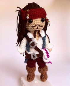 "Jack Sparrow from ""Pirates of the Caribbean"". #jacksparrow #piratesofthecaribbean #disney #movie #pi - nerdy_hook"