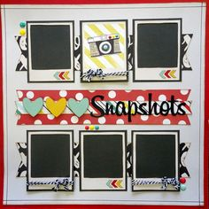 snapshots two scrapbook friends- can turn into 2 pages (Title across both pages Favorite Snapsots) Papel Scrapbook, School Scrapbook, Disney Scrapbook Pages, Scrapbook Templates, Scrapbook Designs, Baby Scrapbook, Scrapbook Paper Crafts, Scrapbook Cards, Scrapbook Cover