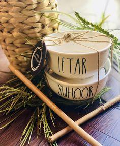 Iftar and Sahoor Ramadan Bowl Set, Eid Gift, Islamic Gift, Muslim Gift Eid Crafts, Ramadan Crafts, Ramadan Decorations, Islamic Decor, Islamic Gifts, Ramadan Activities, Eid Party, Ramadan Recipes, Iftar