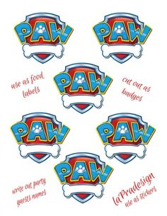 paw patrol invitation templates - Google Search