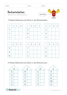 Worksheet: Calculation tables addition (up to - mix tasks - Worksheet: Calculation tables addition (up to – mix tasks The Effective Pictures We Offer You - Learning Numbers Preschool, Kindergarten Math Worksheets, Free Preschool, Teaching Kids, Addition Worksheets, Printable Crafts, Math For Kids, Kids Education, School