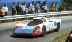 Hans Herrmann/Jochen Neerspasch, Porsche 907, #222, Targa Florio, 1968.