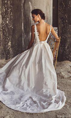 elbeth gillis bridal 2017 sleeveless illusion deep vneck aline wedding dress (annabelle) bv low back