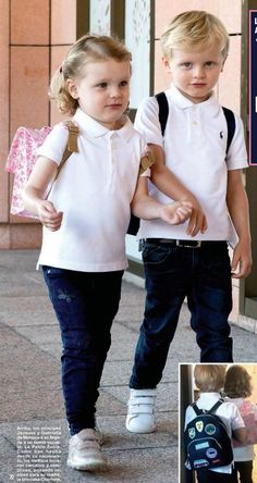 Monaco PF: First day of school of Prince Jacques and Princess Gabriella Princesa Grace Kelly, Princesa Charlene, Duchess Kate, Duchess Of Cambridge, 19 Kids And Counting, Celebrity Couples, Celebrity News, Monaco Royal Family, Charlene Of Monaco