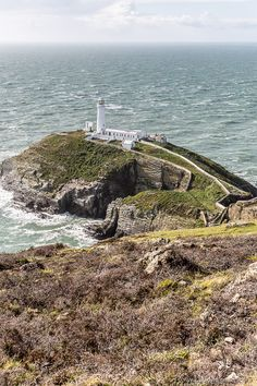 South Stack Lighthouse in Anglesey, Wales Anglesey Wales, Wales Beach, Brecon Beacons, Snowdonia, Portugal Travel, British Isles, Great Britain, Cool Places To Visit, Trip Planning
