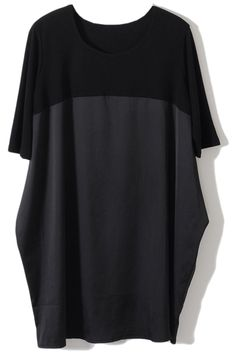 Shop Loose Dual-tone Black Dress at ROMWE, discover more fashion styles online. Mode Justin Bieber, Dress P, Party Dress, Street Chic, Street Style, Latest Street Fashion, Half Sleeves, Custom Clothes, Romwe