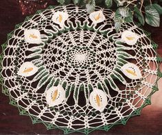 Calla Lily Doily Flower Motif Pattern