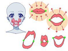 顔の各パーツをチェック! デフォルメをバランス良く描くには? イラストの描き方  口    How to Draw Balanced Manga Faces: Face Check List   Illustration Tutorial  Mouth