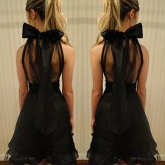 Style inspiration of the day at #CargoClothing. Sheer back bow dress
