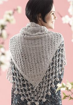 Free Crochet Pattern: Patons Grace - Lace Edge Shawl