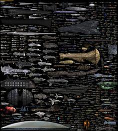 Size Comparison - Science Fiction's Greatest Spaceships by *DirkLoechel on deviantART #infographic