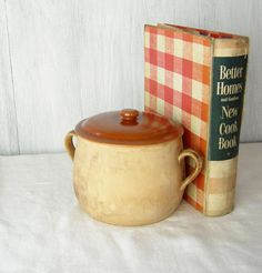 1940s RED WING BEAN Pot Vintage Pottery Provincial Cooking Ware Rustic Farmhouse Decor on Etsy, $26.00