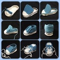 procedure to crochet Converse baby booties