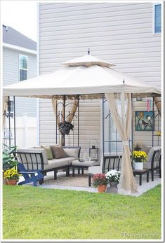 x 10 ft. Arrow Gazebo 2019 Outdoor projects backyard patio space The post Hampton Bay 10 ft. x 10 ft. Arrow Gazebo 2019 appeared first on Backyard Diy. Budget Patio, Patio Diy, Diy Gazebo, Small Backyard Patio, Backyard Gazebo, Pergola Kits, Gazebo Ideas, Small Patio Ideas On A Budget, Backyard Storage