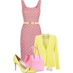 Pink Lemonade by justbeccuz on Polyvore featuring moda, Moschino Cheap & Chic, Marella, Just Cavalli, Victoria Beckham, Saachi and HTC