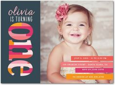Stacked By One: Bloom - Birthday Party Invitations in Bloom | Elm and Gray