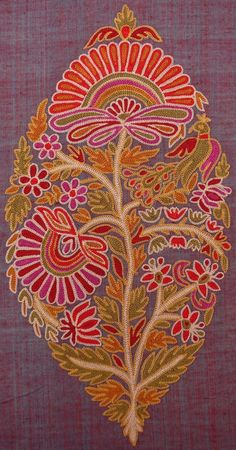 Indian floral embroidery