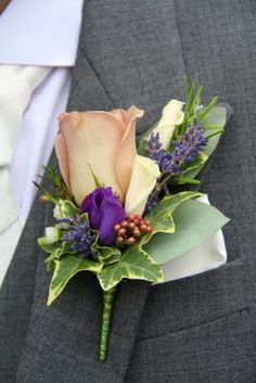 Flower Design Buttonhole & Corsage Blog: Grooms Special Amnesia Rose Boutoniere
