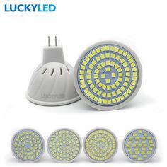 Luckyled bombillas led gu5.3 ac 220 볼트/110 볼트 3 와트 4 와트 5 와트 6 와트 SMD 2835/5730 스포트라이트 홈 Lampada 전구