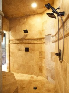 Ive always wanted a walk in shower no glass to clean Love it