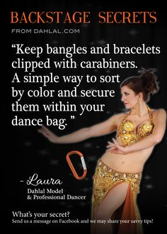 Tip from dahlal.com belly dance - would work great for packing jewelry for a trip!