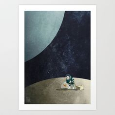 Adorable Prints :The Space Gardener Art Print by Mark Bird - $18.00