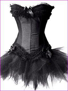 Forever Young Burlesque Moulin Rouge Lolita FANCY DRESS Corset & Tutu: Amazon.co.uk: Beauty