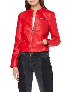 Vero Moda Vmkhloe Favo Faux Leather Jacket Noos Giacca Donna