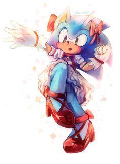Madoka Sonic + speedpaint by chillis-art on DeviantArt