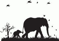 Elephant & Butterflies Wall Stickers from £12.99
