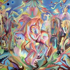 Caballos en la memoria Art, Painting