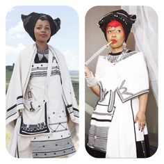 Xhosa Attire, African Attire, African Dress, Shweshwe Dresses, Vintage Couture, African Culture, Traditional Wedding, African Fashion, Celebs
