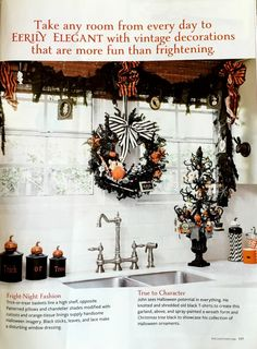Better Homes and Gardens featuring my Halloween decorations!