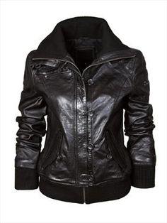 Barneys Black Label Women's Funnel Neck Bomber Jacket £260.00