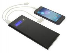 Slim Dual Power Bank. Een super handige oplader voor onderweg. #powerbank #oplader #cadeau #gsm