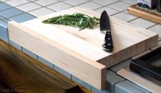 Wooden Cutting Board with Front Ledge by 50SplintersWoodworks, $35.00
