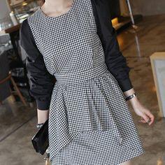 c1d1253ca4a8b7 Layered Plaid Dress by Miamasvin  Miamasvin  KoreanFashion  AsianFashion  Plaid Dress