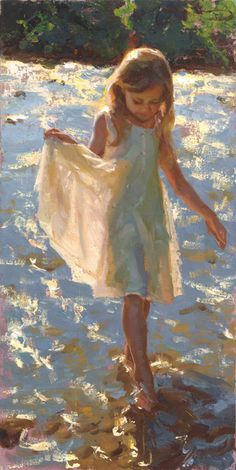 Mike Malm, Dazzling Light, oil, 24 x - Southwest Art Magazine Paintings I Love, Beautiful Paintings, Figure Painting, Painting & Drawing, Oil Portrait, Malm, Beach Art, Oeuvre D'art, Figurative Art