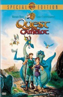 """Quest For Camelot"" (dir. Frederik Du Chau, 1998) --- Adventurous girl Kayley (voiced by Jessalyn Gilsig), blind hermit Garrett (Cary Elwes), and a goofy two headed dragon race to find the lost sword Excalibur to save King Arthur (Pierce Brosnan) and Camelot from disaster. Also featuring Gary Oldman as the villain, Ruber."