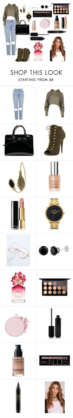 """Untitled #453"" by patricia-correia1990 on Polyvore featuring Topshop, Giuseppe Zanotti, By Terry, Chanel, Nixon, Marc Jacobs, MAC Cosmetics, MAKE UP FOR EVER and Charlotte Russe"