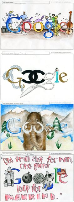 google-doodle great one for visual communication/design/art with lettering have students find a random holiday that is not well known and create a google design for it
